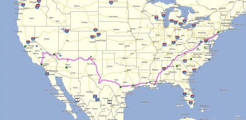 Heading South - USA